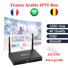 GOTIT X95PRO Amlogic S905X Android tv box 2G 16G +Best France Arabic iptv one year subscription free 1200 Live+VOD free shipping(China)