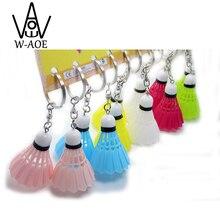 48pcs Keychain Badminton Key Ring Charm Bag Pendant Key Chain Decoration Sport Game Gift Fashion Promotion Souvenir Shuttlecock