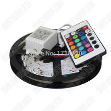 With 24keys Remote Controller 14.4 W/m RGB LED Strip 5050 SMD Set 60leds Led Strip 12V DC Waterproof IP65 RGB LED Rope Light 10m