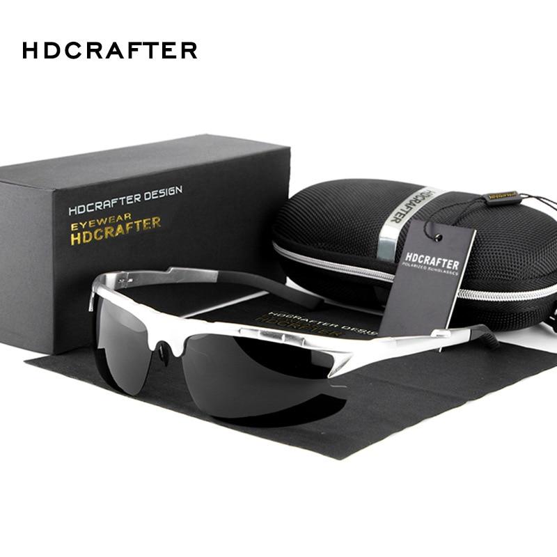 New 2017 HDCRAFTER Fashion Sports Driving Car Antiglare Uv protection Sunglasses Man Brand Designer CR39 E003<br><br>Aliexpress
