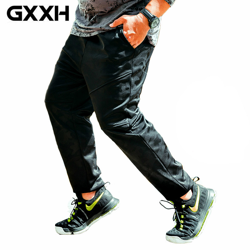 GXXH Winter Big Size Mens Trending Brand Plus Velvet Dark Camouflage Trousers Warm Thick Baggy Pants for Men Male XXL-5XL 6XL