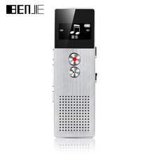 BENJIE BJ-M23 8GB Digital Voice Recorder 15m Professional Audio Recorder Portable One Key Recorder With Loudspeaker 28 languages(China)