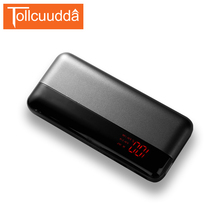 TOLLCCUDDA 10000mAh Power Bank Powerbank External Digital Display Battery Pack Mobile Charger For iPhone Mobile Phone Poverbank(China)