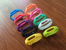 10 Colors Original Colorful Xiaomi Mi Band Strap Mi Band 1s Bracelet Accessories Replaceable Smart Band Belt Silicone Bracelet