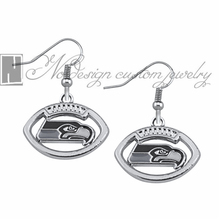 Seattle Seahawks super bowl champion Enamel Earrings Rugby  Team Fans Dangle Earrings NE0687