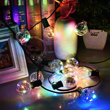25 LED Copper Wire Bulbs lights G40 String Lights Outdoor Decorative Lights for Bedroom,Party,Wedding, Backyard,Multi Color/WW