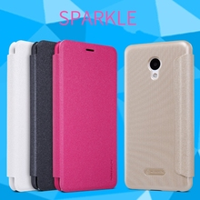 NILLKIN Brand Sparkle Super Flip Cover Leather Case For meizu M5 Smart Sleep Wake Function Phone Case