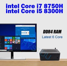 Core i7 8750 H Mini PC 4 K Ultra HD 3D Blu-Ray Mini PC Windows 10 8 GB Оперативная память USB 3,0 Minipc Linux Безвентиляторный Core i5 8300 H mini pc DDR3L(China)