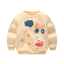 2017 New winter autumn children clothing baby girls infants Cartoon cotton long sleeve Sweet princess T-shirt tops tee(China)
