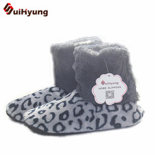 Buy Suihyung Autumn Winter Women Warm Indoor Floor Shoes Faux Fur Leaopard Home Slippers Female Soft Plush Slip Cotton Shoes Bota for $7.79 in AliExpress store