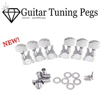 6 pcs 3R 3L Chrome Zinc Alloy Electric Acoustic Guitar String Tuning Pegs Tuners Machine Heads Guitar Parts guitar tuning pegs(China)