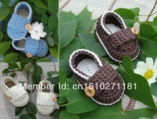 Popular crochet baby shoes skull square hand kid shoes first walker shoes for cheap(China)