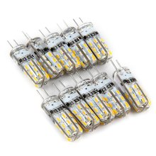 Hot 10 PCS/Lot 1W G4 LED Lamp DC 12V Bulb White/Warm White G4 Light Bulb SMD3014 G4 Bulb 360 Degree Angle Spotlight(China)