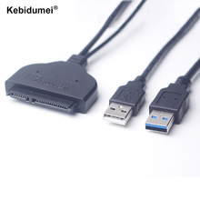 "Kebidumei 5Gbps USB 3.0 + 2.0 to 22Pin SATA 2.5"" HDD Adapter Data Power Cable High Speed USB3.0 to 22 Pin SATA Hard Disk Drive(China)"