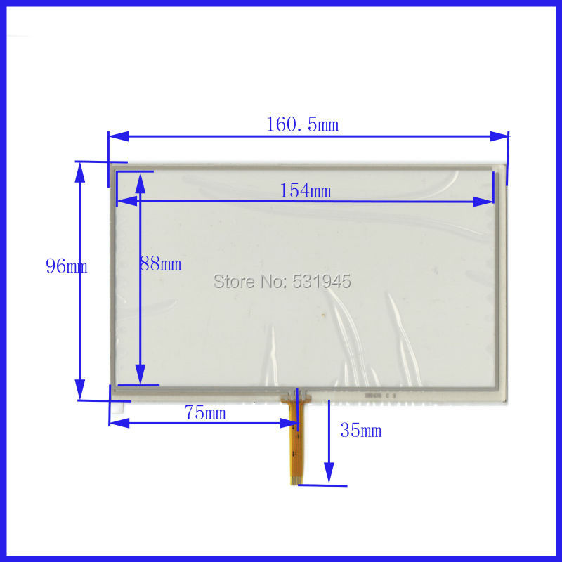 New 7 Inch Touch Screen 161mm*96mm for 7 GPS GLASS 161*96 for tble compatible for soling gps touch(China (Mainland))