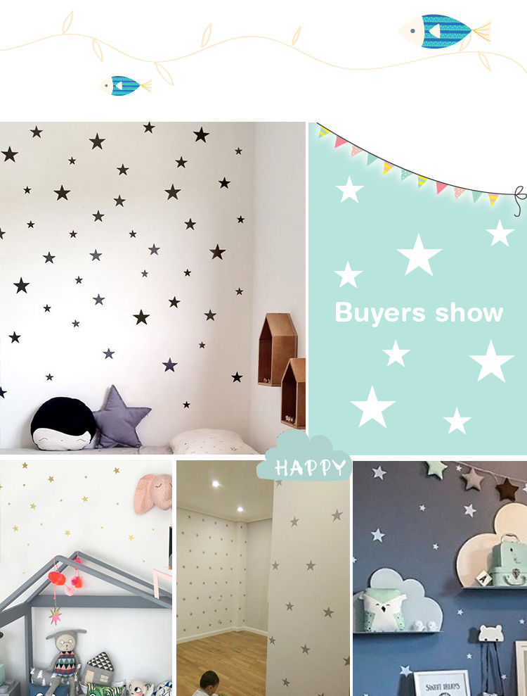 HTB1O3jWwTtYBeNjy1Xdq6xXyVXaY - Custom Color Stars Wall Sticker DIY For Kids Rooms-Free Shipping
