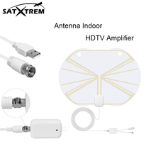 Premium HDTV Antenna Digital Antenna Indoor Television HDTV Amplifier Antenna 50 Miles Range for android tv box(China)