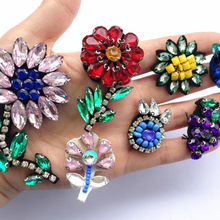Handmade Flower Sequins Sew Iron On Patches Embroidered Cloth Applique Badge Fabric Apparel Sewing Crafts Butterfly Beaded