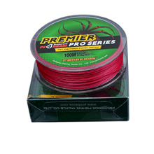 Hot Sale PE Fishing Line 100m 2.5-8# 4 Stands Braided Wire Red Fishing Line Strong Mainline Ocean Rock Fishing Line OT080