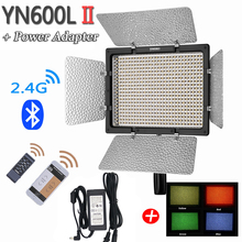 YONGNUO YN600L II 5500K 2.4G Bluetooth YN600 II 600 LED Light Panel with 9V 3A DC Power Adapter and 4 Colors Gels