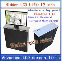 LCD, TV Lifter \ hidden \ Monitor Lifts \ lift bracket \ LCD electric lift \ wireless remote control movements \ 19-inch lift(China)