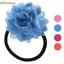 ROMIRUS Modern 2017 Baby Girl Hair Accessories Scrunchy Flower Elastic Hair Bands For Toddle Infant Newborn bb E49