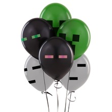 Minecraft Latex Balloons (Enderman,Ghast,Creeper)Minecraft Birthday Party Balloon Decoration Toys 4 Mixed Party Supplies Gift