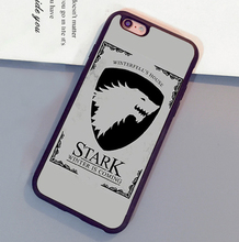 House Stark Game of Throne Printed Soft TPU Skin Cell Phone Cases For iPhone 6 6S Plus 7 7 Plus 5 5S 5C SE 4S Back Cover Shell
