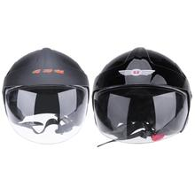 DOT Certificated 3/4 Open Face Motorcycle Helmet L Size Scooter Moto Motocross Safety Helmet Capacetes de Motociclista Black