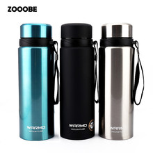 ZOOOBE 750ml Thermal Cup With Tea leaks Vacuum Flask Heat Water Tea Mug Thermos Coffee Mugs Insulated Stainless Steel Travel Cup(China)