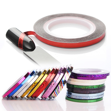 1 Roll 3mm Laser Nail Striping Tape Line Adhesive Decal DIY Manicure Nail Art Sticker Decorations Styling Tool