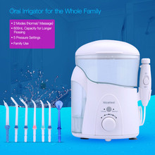 Nicefeel Professional 600ml Dental Floss Flosser Home Pack Teeth Cleaning Machine Oral Irrigator Massage with 7pcs Jet Tip