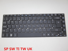 Laptop Keyboard For Acer For Aspire 3830 3830G 3830T 3830TG SPANISH SP SWISS SW THAILAND TI CHINESE CH UK V121602ES2 V121602EK2(China)
