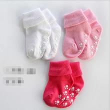 Newborn Toddler knee high sock Baby Boy Girl Socks anti slip Cute Skid Resistance leg warmers For 0-3T baby(China)