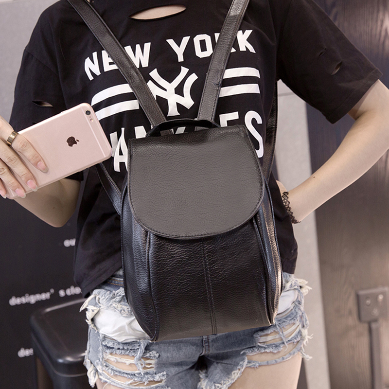 Shoulder Bag Korean version of the mini wild little backpack casual fashion washed leather fall simple college wind bag<br><br>Aliexpress