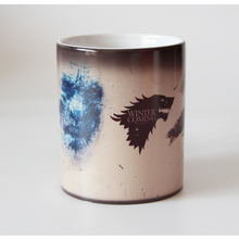 Drop shipping Game Of Thrones mugs Tribal totem mug color changing magic mugs cup Tea coffee mug cup Winter is coming(China)