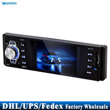 Free DHL Fedex 20PCS 3.3 Inch Car Stereo Mp5 Mp4 Player 12v Car Audio Video Mp5 Fm Usb/sd/mmc/remote Control 3310r(China)