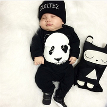 New fashion baby boy clothes cute Panda baby romper newborn clothes Long sleeve jumpsuit toddler girl suit infant clothing set(China)