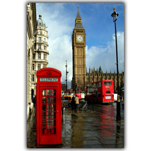 London Big Ben Landscape Posters Silk Canvas Fabric Image Home Decoration Rooms Well Designed Wallpaper Posters FJ385