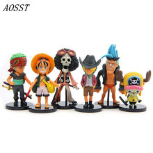 (AOSST) 6pcs/lot POP Anime One Piece Viking Age Theatre Color Adventure PVC Action figure Doll Christmas Gifts For Child(China)