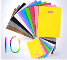 20*26cm (Logo printed extra fee USD70) yellow plastic bag Clothes garments Packaging Plastic Shopping Bags(China)