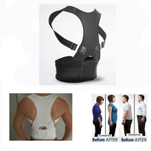 2017 new neoprene magnetic posture corrector Hot Selling lower back support belt Back Straightener Body Posture Correction Brace(China)