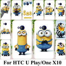 Phone Case For HTC U Play Alpine One X10 E66 Housing Cover Plastic Yellow Minions Case Bag Coque For HTC One X10 E66 Shell Cover