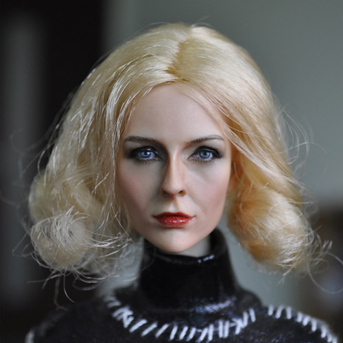 KUMIK Head 1/6 Female Head Sculpt KM13-74 Girl Head Carving Model With Long Hair Fit 12 Action Figure Doll Body Toys<br>