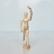15.5 cm wooden puppet model sketch of joint movable children family ornaments creative toy doll crafts customized holiday gift