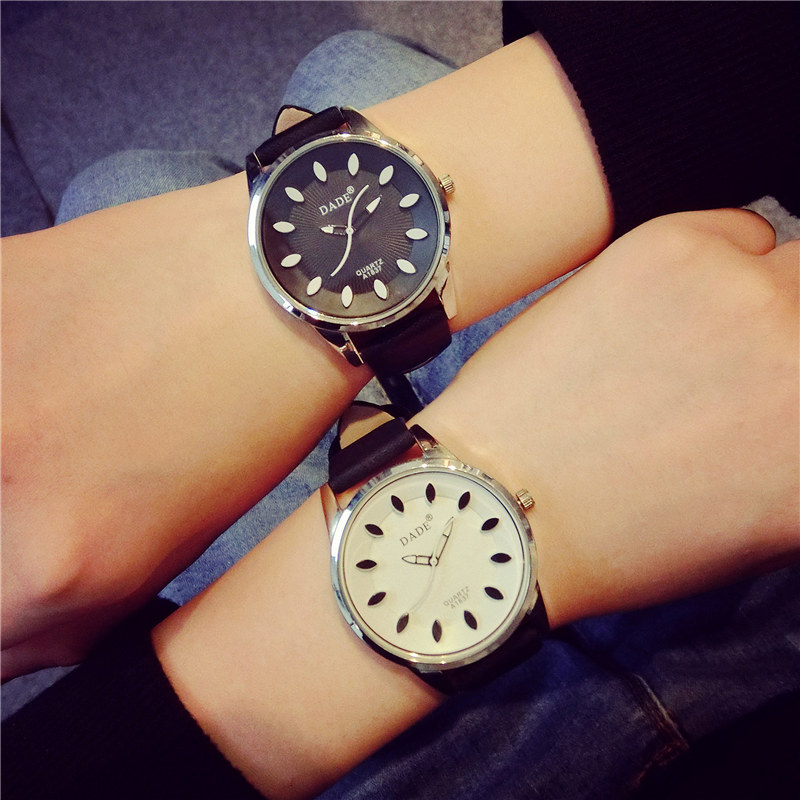 Fashion Cute DADE Leaves Pattern Stylish Leather Watch Wristwatches for Women Ladies Students Girls OP001<br><br>Aliexpress