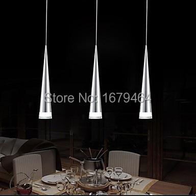LED Modern Aluminum Pendant Light, 3 Light, Transparent Acrylic Metal Plating,110V-240V.<br><br>Aliexpress