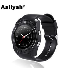 Aaliyah V8 Bluetooth Smart Watch Relogio With Camera Call Facebook Whatsapp Support SIM TF Card Smartwatch For Android VS Y1 Q18(China)