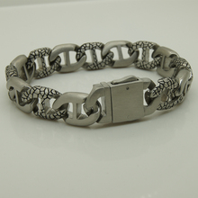 punk classic satin men/boy's stainless steel chain bracelet men jewelry bracelets bangles(China)