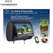YUANMINGSHI Car DVD Player With 9 Inch Car Headrest DVD Player Monitor Support USB SD Games Remote Control(China)